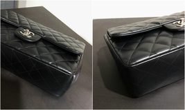 100% Authentic Chanel BLACK QUILTED LAMBSKIN JUMBO CLASSIC DOUBLE FLAP BAG SHW image 15