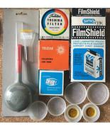 11 pc Vintage 35mm Camera Accessories Lot • Sima Toshiba Qualide Kalt Te... - $19.75