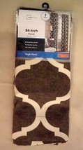 "New Mainstays One Rod Pocket Panel 50 x 84"" Ironworks Mocha Cotton Blend Curtain - $12.95"