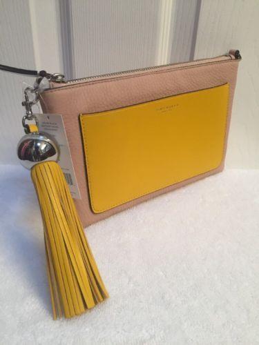 Tory Burch Goan Sand & Daisy Color-Block Leather Tassel Crossbody Bag