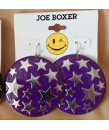 Joe Boxer Celestial Stars New Earrings Wire Hook Purple and Silver Free ... - $7.99