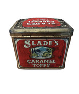 """Vintage Slades Carmel Toffy Crystal Spring Tin Can. 3.5"""" X 4.5""""  Made in... - $12.86"""