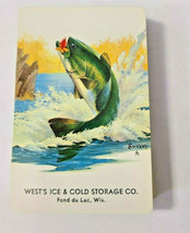 West's Ice & Cold Storage Co.Fond du Lac, Wisc. Deck Playing Cards   (#26) image 1
