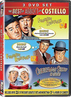 Best of Abbott Costello Funniest Routines DVD Set Vol 1 & 2  Funnies + Christmas