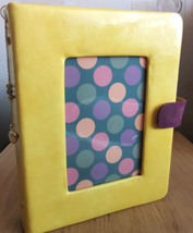cover for A5 planner in yellow leather on a ring mechanism - $55.00
