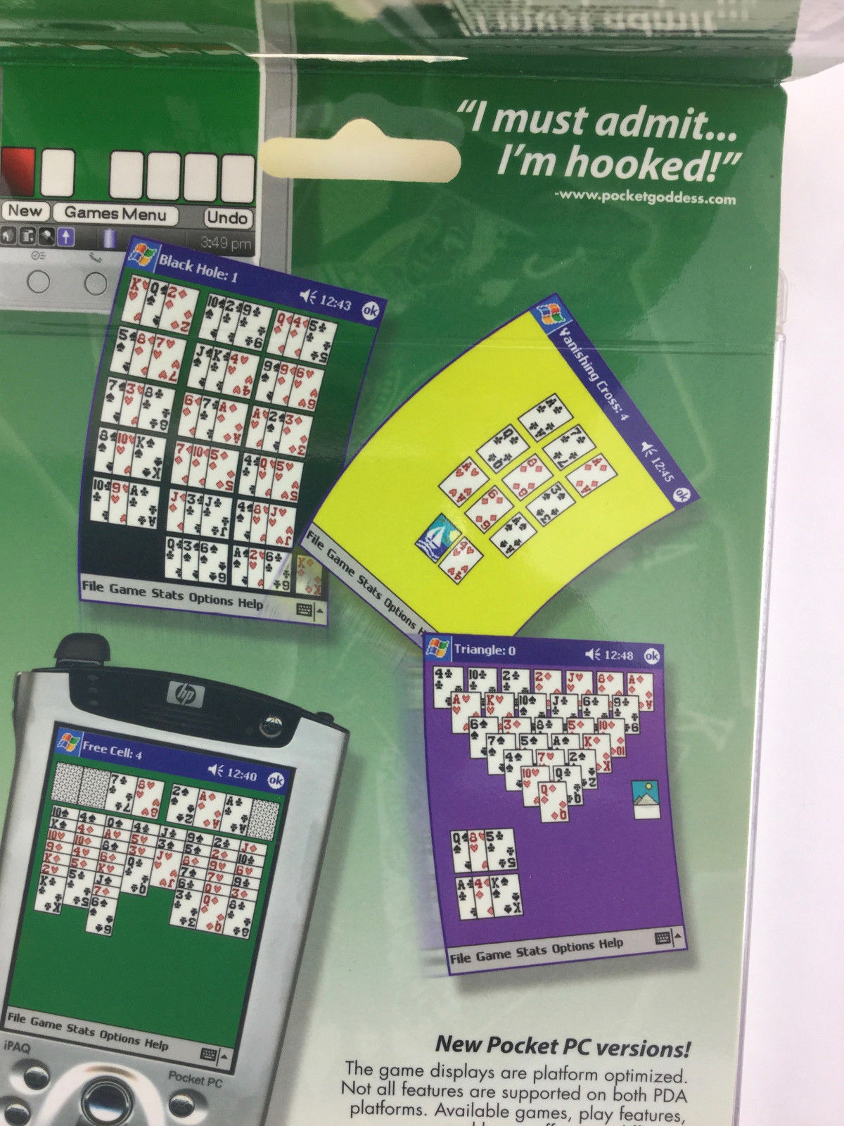 Pocket PC Solitaire Game Free Cell Pyramid Palm OS and Windows Mobile