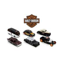 Harley Davidson Assortment Wave 1, 6 Cars Set 1/64 Diecast Model Cars by... - $53.34