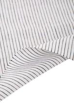 55'' Wide Home Linen Fabrics Striped Flax Fabric White (17.5 55 Inches)
