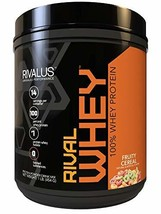 Rivalus Rivalwhey – Fruity Cereal 1lb  - 100% Whey Protein, Whey Protein Isolate