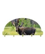 Bull Moose Key Rack 5 Hook Metal Wall Art Lodge USA Made 2016 - $29.69