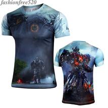 Men Age of Extinction T-shirt Short Sleeve Casual Sportwear Loose Tee Shirt Tops - $9.99
