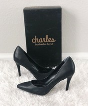 ✨New CHARLES by CHARLES DAVID Palma Faux Leather Pointed Pumps Womens Si... - $46.28