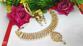 Indian Traditional Gold Choker Necklace Wedding Fashion Jewelry - $15.84
