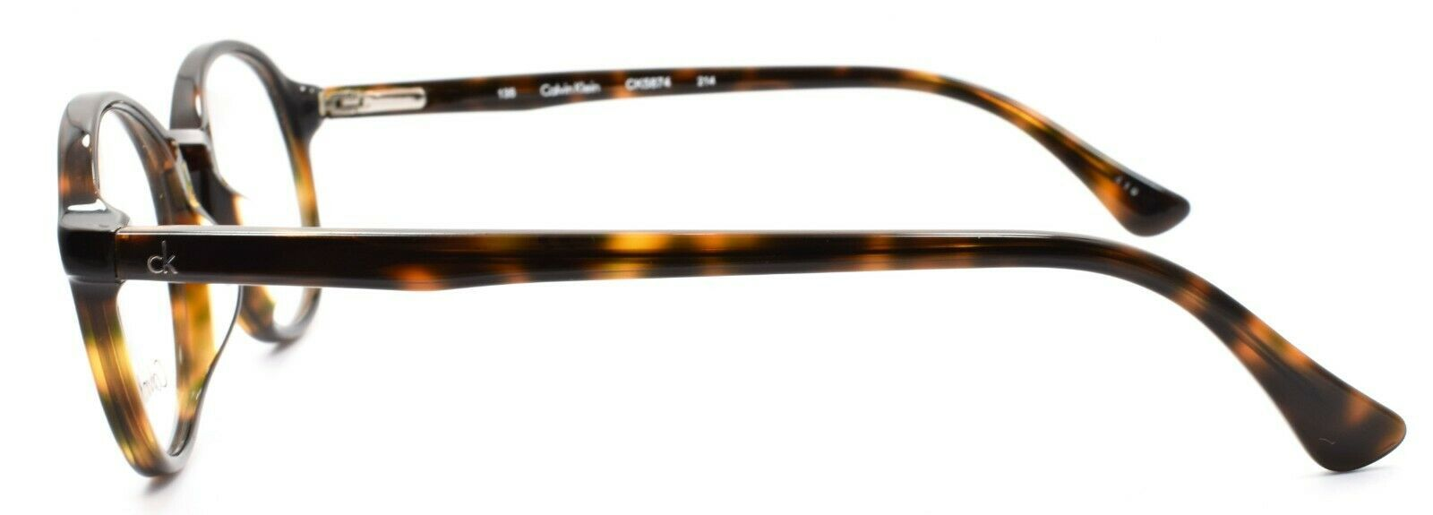 Calvin Klein CK5874 214 Unisex Eyeglasses Frames SMALL Round 48-20-135 Havana