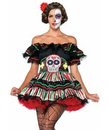 Day of the Dead Doll Costume Cosplay Dress Up Leg Avenue Small Medium - $21.77