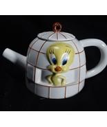 Vintage Warner Bros Tweety Bird  Ceramic Teapot 1997 With Lid - $16.83