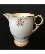 Vintage Royal Stafford England Rose Pansy Forget-Me-Not Bone China Creamer - $15.40