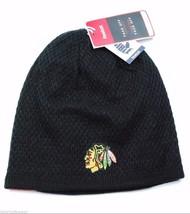 Chicago Blackhawks Reebok NHL Hockey Player Reversible Knit Hat/Beanie #... - $19.94
