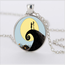 WHISP OF CHARM JACK & JILL CABOCHON NECKLACE  (8563)   >> COMBINED SHIPPIN - $3.71