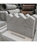 Garden Fence Concrete Stone Road Flower Bed DIY Decor Pave Making Plasti... - $68.00