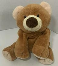 Ty Pluffies Slumbers Brown  Teddy Bear bean bag stuffed animal 2002  TyLux  - $12.86