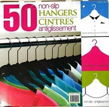 50 Pack of Space Saving Non Slip Hangers Black Soft - Brand New/Open/Dam... - $9.40