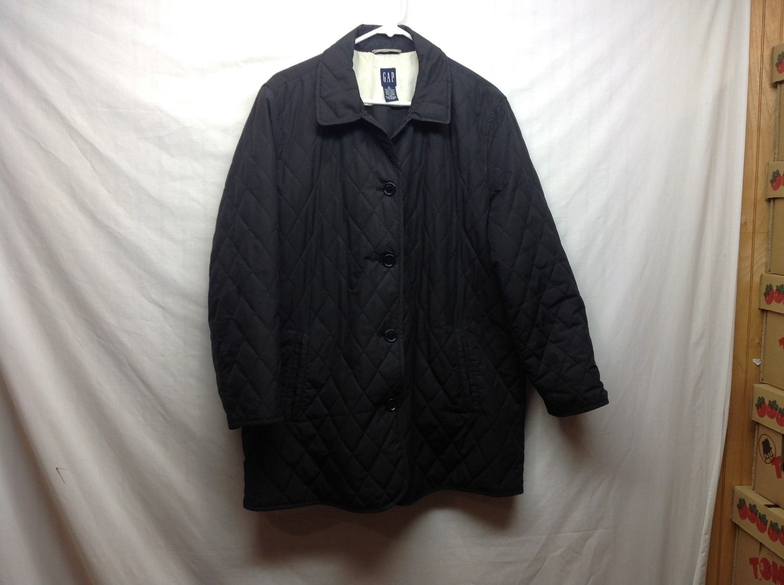 Ladies Black Button Up Jacket by GAP sz XL