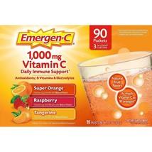 90ct Emergen-C Vitamin C 1000mg D & Zinc Immune Suppo Tangerine Orange R... - $39.99