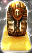 HAUNTED BRASS MARBLE STATUE GREAT PHARAOH KING SECRET MAGICK OOAK MAGICKAL - $10,977.77
