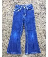 Tommy Hilfiger Girls 6 Flare Jeans Denim Pants G27 - $11.87