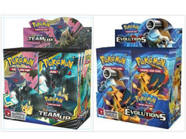 Pokemon TCG Sun & Moon Team Up + XY Evolutions Booster Box Bundle - $214.99