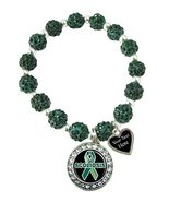 Holly Road Scoliosis Awareness Green Bling Stretch Bracelet Jewelry Choo... - $19.79