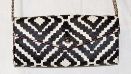 Cute Geometric Print Faux Leather Clutch Cross-Body Shoulder Bag