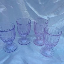 2 PIER 1 IMPORTS LAVENDER/VIOLET GLASS DECORATIVE DRINKING GOBLETS NWT  - $19.99