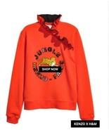 Kenzo x H&M Sweatshirt  Orange Tiger Ruffle Collar SZ XS runs large SOLD... - $157.41
