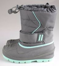 Cat & Jack Boys Kids Youth Gray Cordie Thermolite Insulation Winter Boots image 5