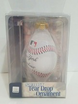 New York Yankees Sport Tear Drop Ornament MLB Baseball Forever Collectibles - $14.54