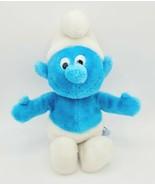 "Vintage Wallace Berrie & Co Peyo 13"" Blue & White Smurf Plush Stuffed To... - £7.19 GBP"