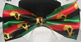 Afro Pan African New! Black Pride Mens Red Black & Green bowtie Rbg Bow ... - $28.05