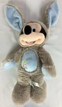 Disney Store Mickey Mouse Costume Easter Bunny Rabbit Stuffed Animal Plu... - $19.79