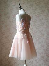 Flower Girl Dress, Sleeveless High Waist Girl Dress Princess Dress - Blush Pink  image 3