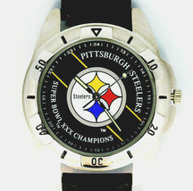 Pittsburgh Steelers NFL Super Bowl, Fossil Vintage 1996 Leather Band Watch $99 - $97.86