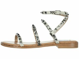 Steve Madden Travel Snake Women's Ankle Strap Stud Flat Sandals - $73.00