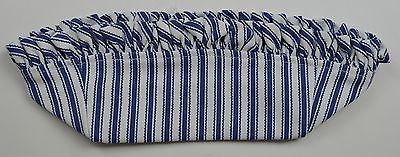 Primary image for Longaberger 1997 Sweet Treats Basket Liner Blue Ticking Fabric Accessory Decor