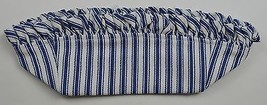 Longaberger 1997 Sweet Treats Basket Liner Blue Ticking Fabric Accessory... - $10.99