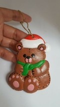 "3.5"" Cute Vintage Lee Wards Brown Bear Christmas Ornament with minor def... - $11.00"
