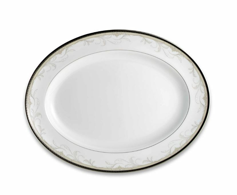 """Waterford Brocade Oval Platter 15.25"""" New with Tag Discontinued Gorgeous #124501 - $201.96"""
