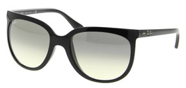New RAY-BAN Cats 1000 RB 4126 601/32 Polished Black  w/Grey Gradient 57 mm - $117.55