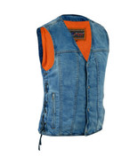 Men's Concealed Carry Rider Denim Vest Motorcycle Clothing by Daniel Sma... - $44.95+