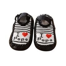 Baby Toddler Non-Slip Indoor Slipper Floor Socks Winter Warm Socks, 1 Pair (Blac